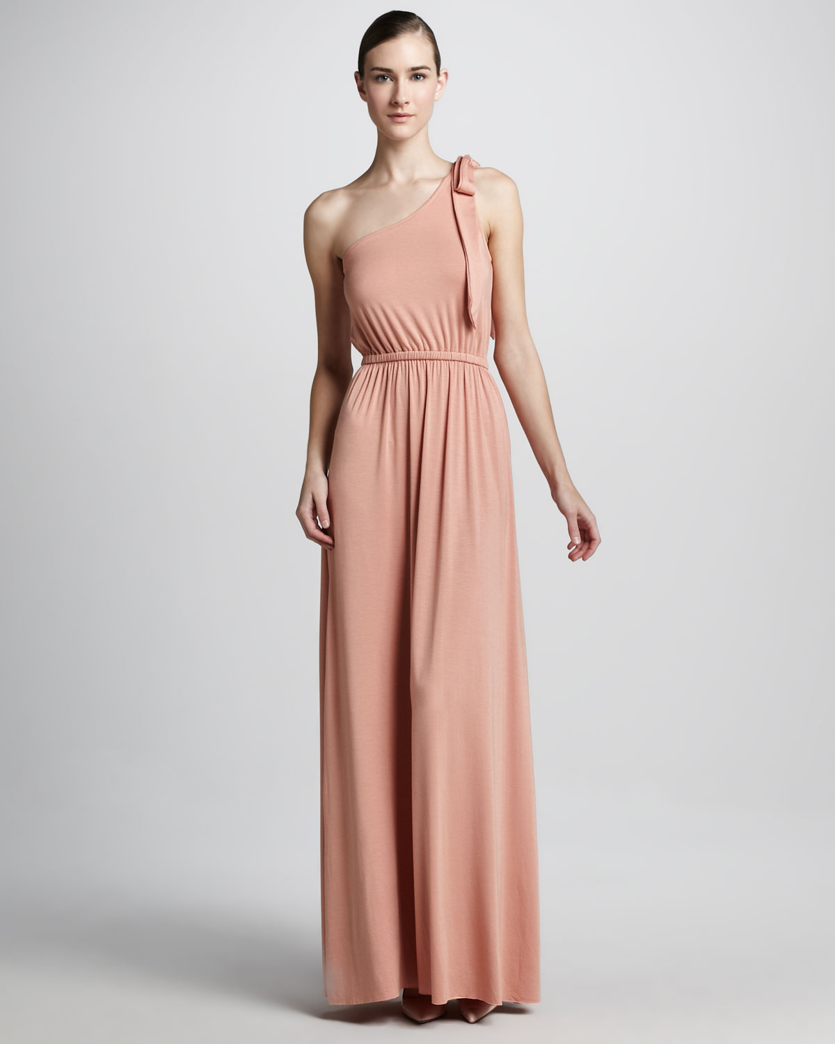 Lyst Rachel Pally Felix One Shoulder Maxi Dress In Pink