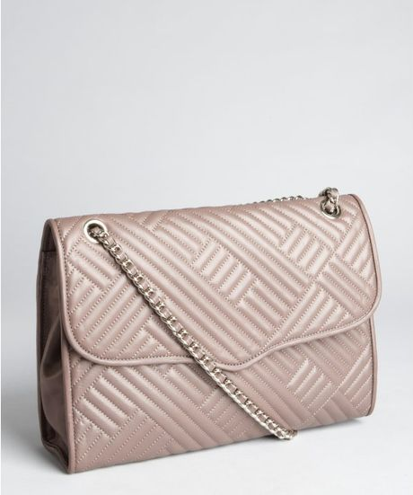 Rebecca Minkoff Lavender Quilted Leather Large Affair
