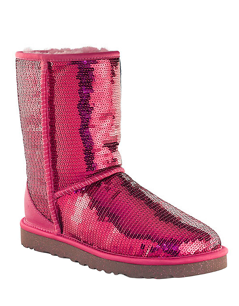 Ugg Classic Sequin Embellished Boots In Pink Lyst