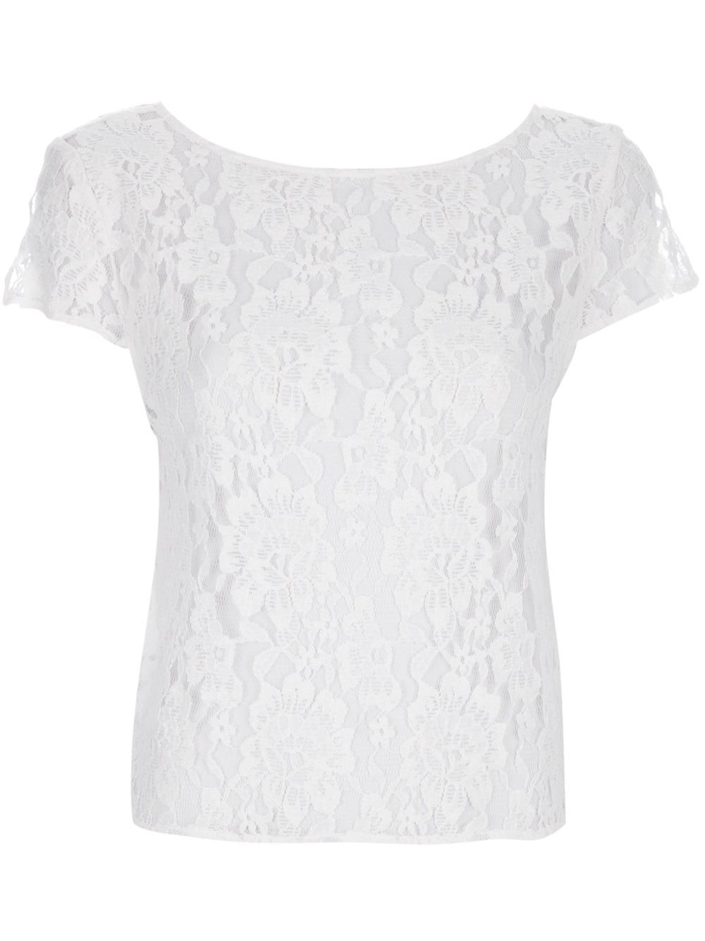 alice olivia lace t shirt in white lyst