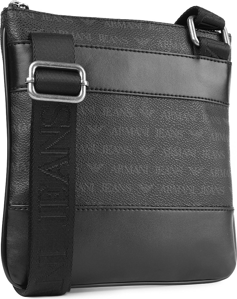 110ac51b8b5e0 Armani Jeans Small Logo Messenger Bag in Black for Men - Lyst