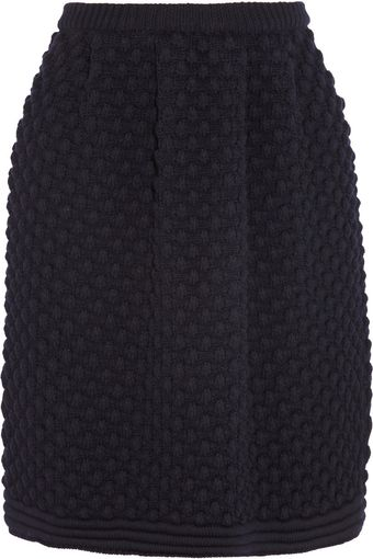 Chloé Bubbleknit Wool Skirt - Lyst