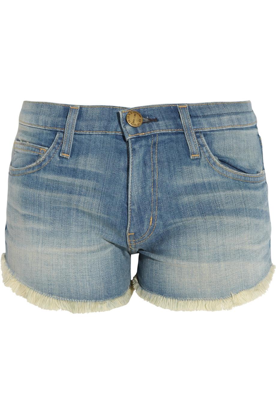 Current/elliott The Gam Cut-off Denim Shorts in Blue | Lyst