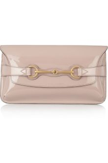 Gucci Patent Leather Envelope Clutch - Lyst