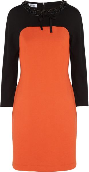 Moschino Cheap & Chic Chaintrimmed Jersey Dress - Lyst