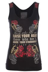Philipp Plein Skull and Rose Vest - Lyst