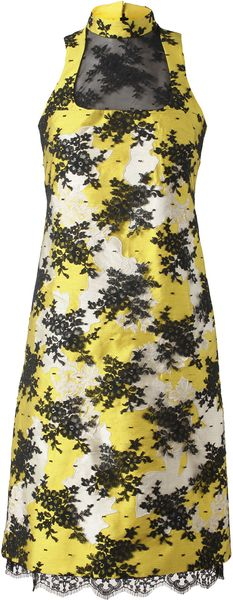 Erdem Martina Embroidered Mikado Lace Dress - Lyst
