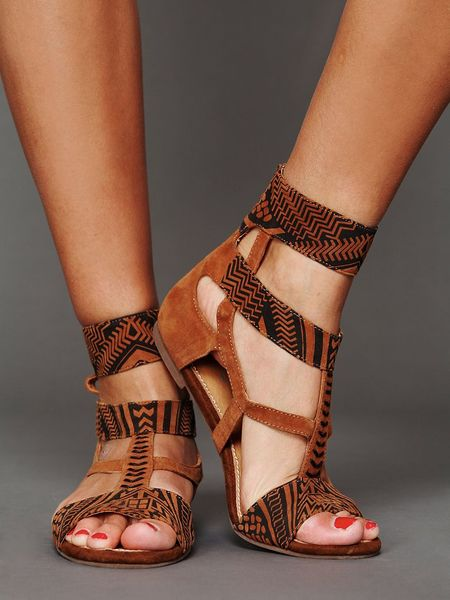 Jeffrey Campbell Ivy Ankle Sandal In Brown Tan Black Lyst