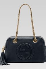 Gucci Soho Leather Doublechainstrap Shoulder Bag - Lyst