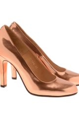 Maison Martin Margiela Metallic Leather Court Shoes - Lyst