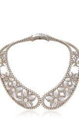 Alexander McQueen Pearl Brass Collar Necklace - Lyst