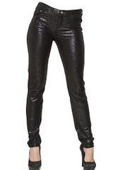 Armani Jeans Shiny Coated Stretch Denim Skinny Jeans - Lyst