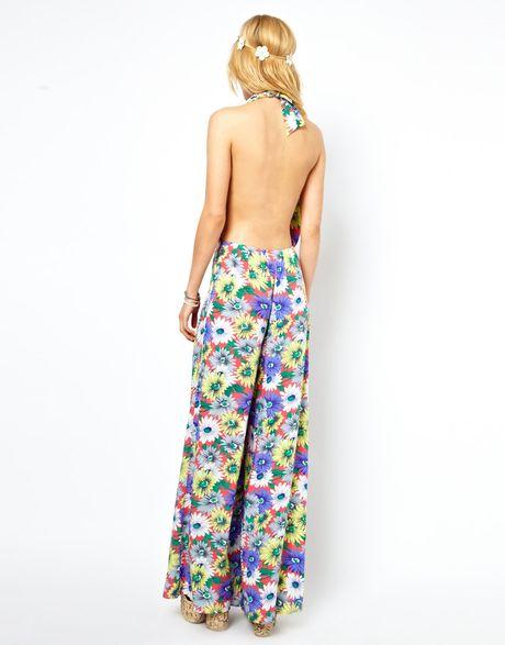 Asos Jumpsuit in Floral Print in Multicolor (multi) | Lyst