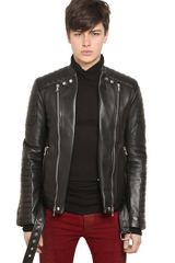 Balmain Leather Bomber Jacket - Lyst