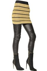 Balmain Striped Lurex Viscose Knit Skirt - Lyst