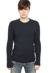 Balmain Wool Alpaca Knit Sweater - Lyst