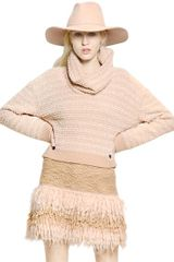 Blumarine Wool Mohair Boucle Knit Skirt - Lyst