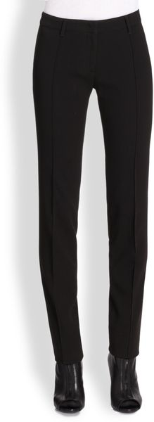 Burberry Mid-rise Cigarette Trousers - Lyst