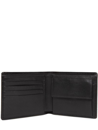 66d1f3b35267 Burberry Saffiano Leather Coin Pocket Wallet in Black for Men - Lyst