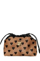 Burberry Prorsum Small Heart Printed Ponyskin Bag - Lyst