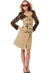 Burberry Prorsum Leopard Print Rabbit Cotton Twill Coat - Lyst