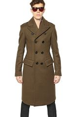 Burberry Prorsum Felted Cavalry Wool Twill Military Coat - Lyst