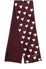 Burberry Prorsum Hearts Printed Wool and Silk Twill Scarf - Lyst