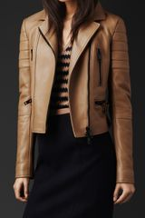 Burberry Prorsum Fitted Leather Biker Jacket - Lyst
