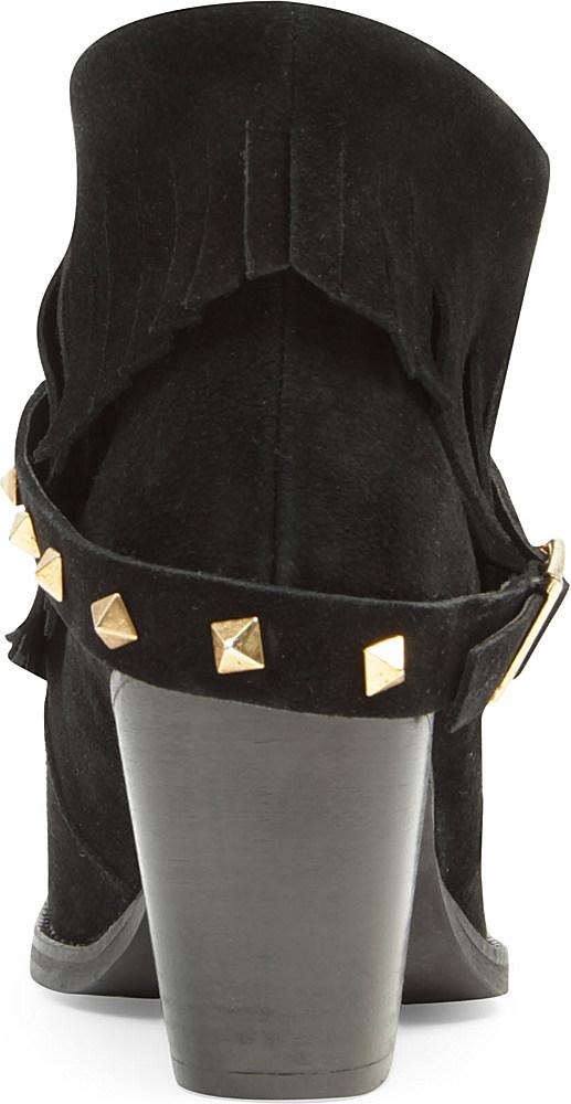 Carvela Kurt Geiger Shindig Studded Suede Boots In Black