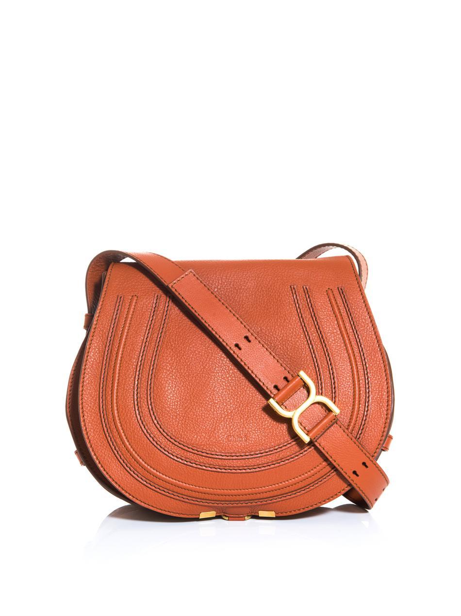 Chlo¨¦ Marcie Satchel Bag in Brown (rust) | Lyst