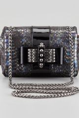Christian Louboutin Sweet Charity Watersnake Crossbody Bag - Lyst
