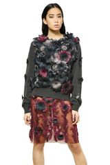 Christopher Kane Feathers Flowers Cashmere Sweater - Lyst