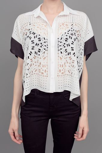Clover Canyon Laser Cut Top White Black - Lyst