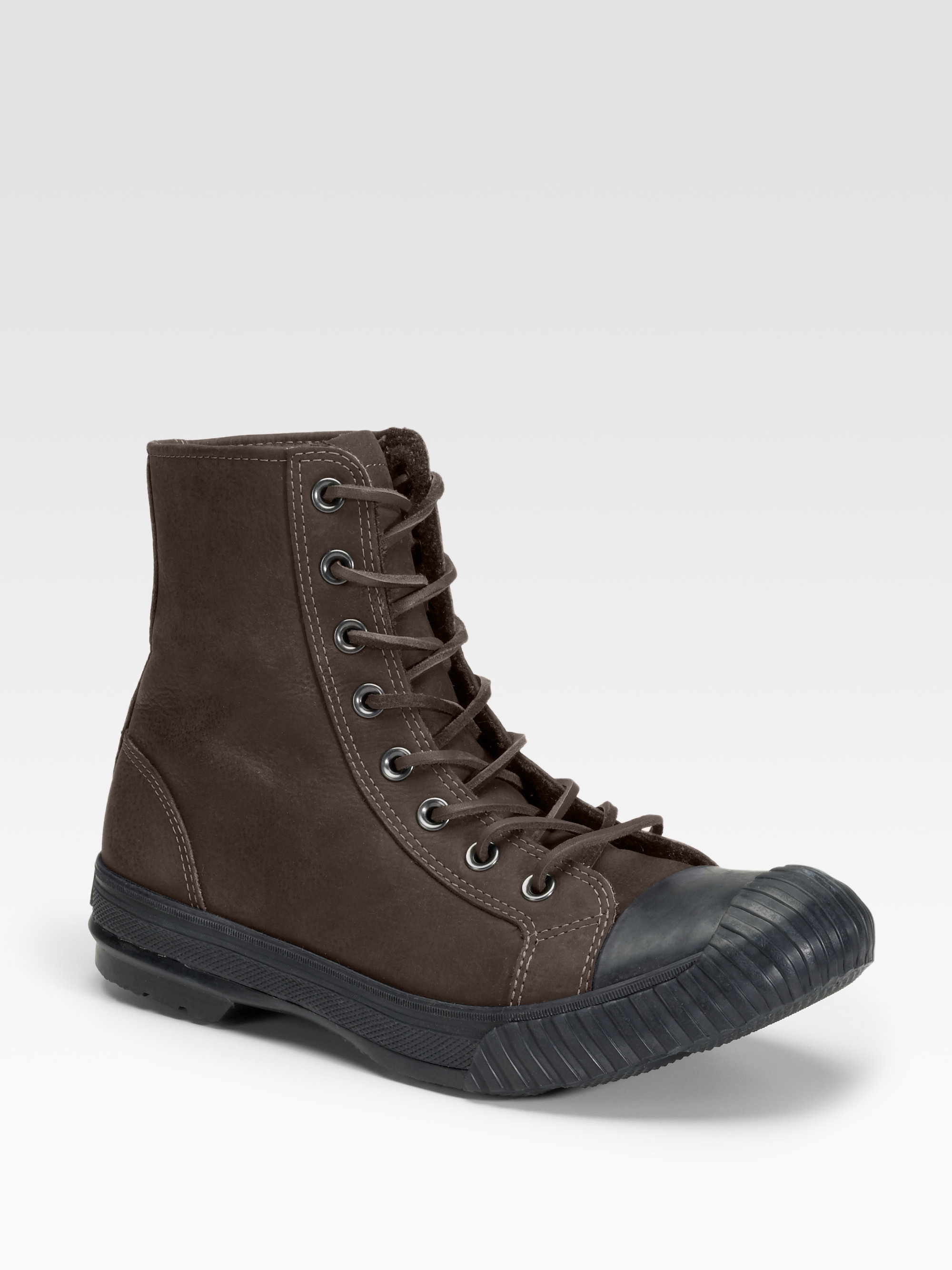 converse varvatos bosey leather boots in black for