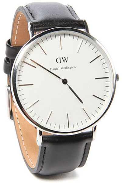 daniel wellington the sheffield watch in silver for men lyst. Black Bedroom Furniture Sets. Home Design Ideas