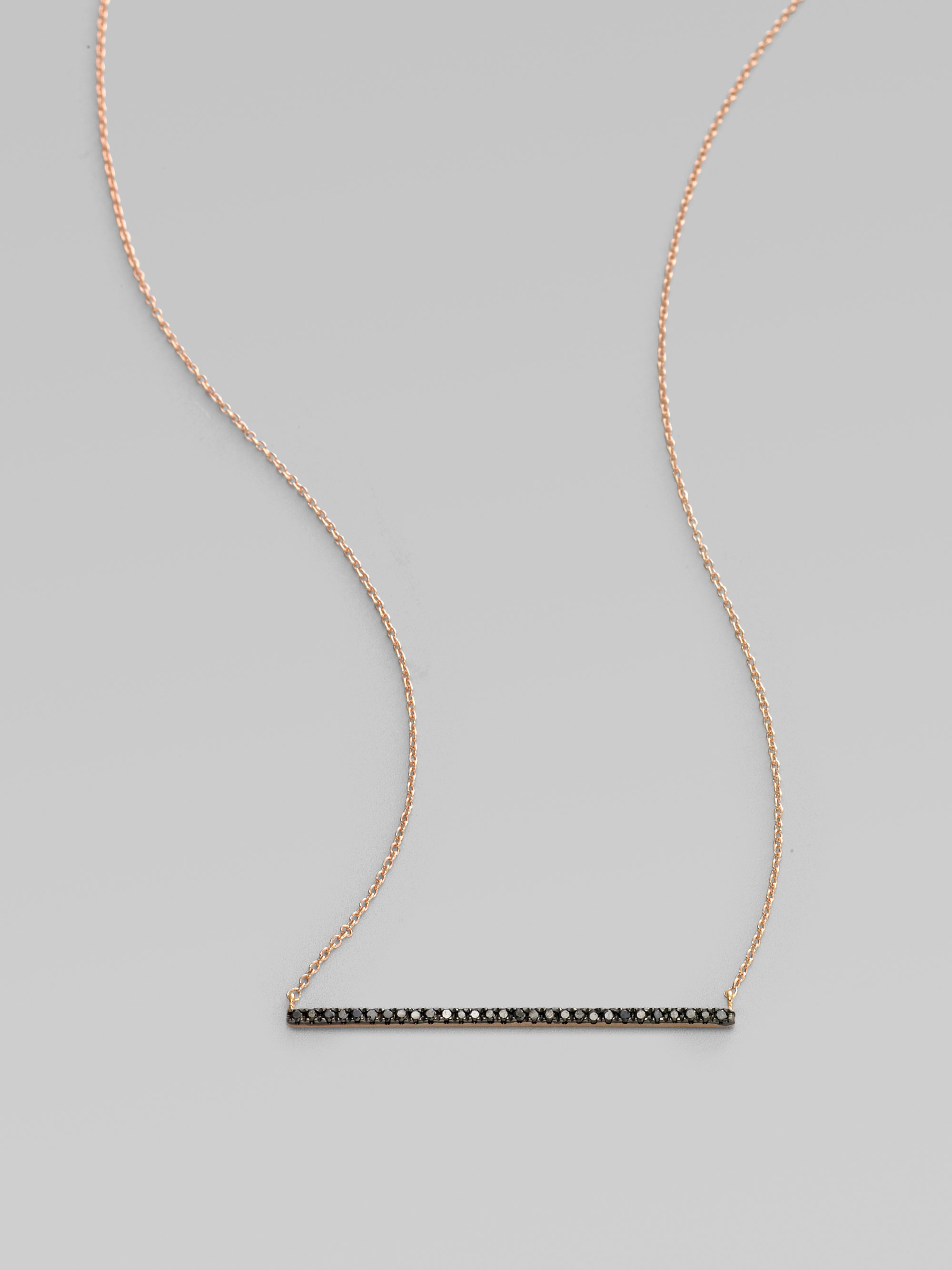 bar necklace angeles collections sliced products rose necklaces los gold diamond cut mini curated