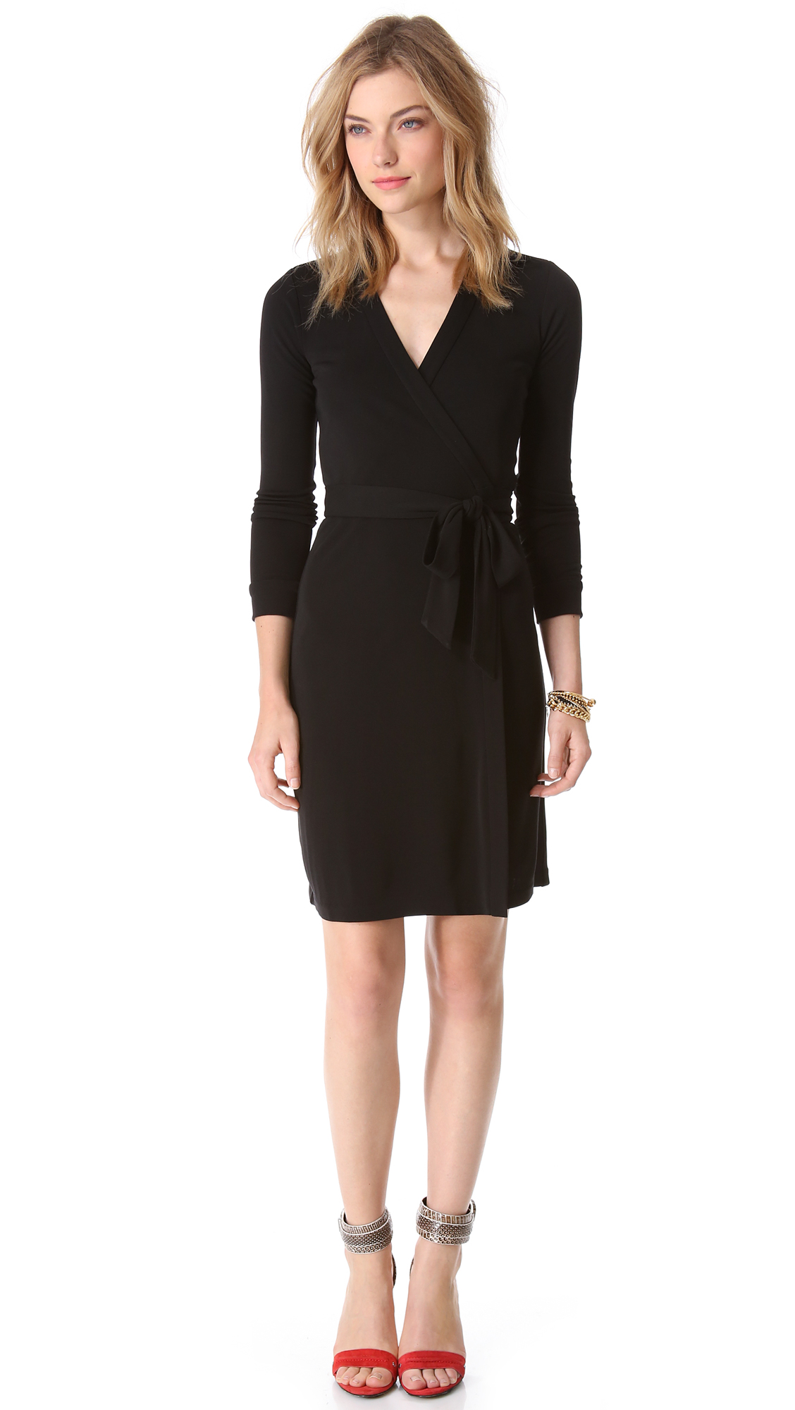 Lyst diane von furstenberg new jeanne two dress in black for Diane von furstenberg clothes