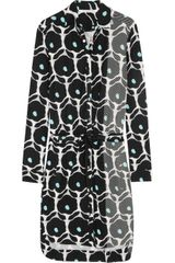 Diane Von Furstenberg Printed Stretch Silk Dress - Lyst