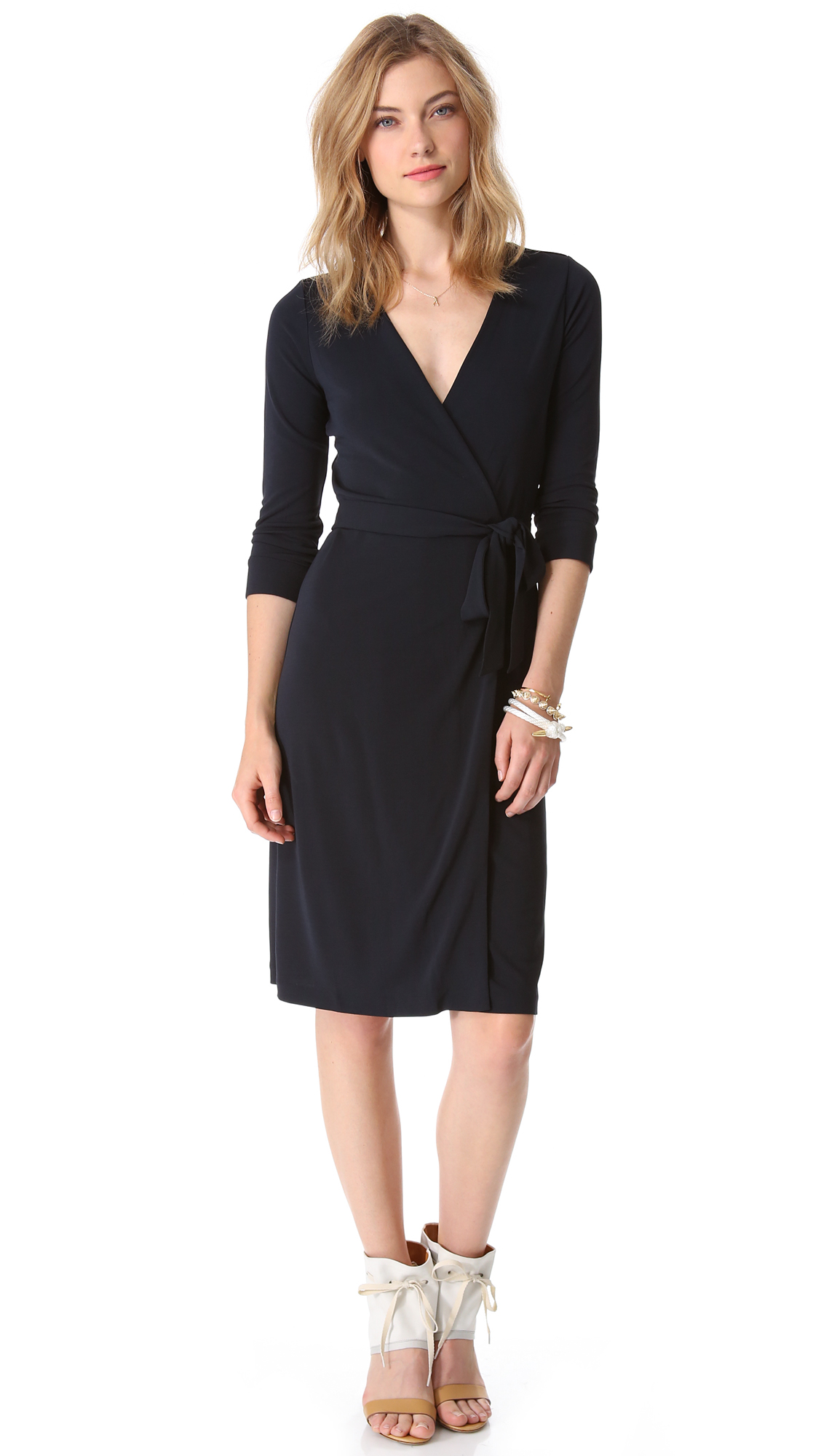 Lyst diane von furstenberg new julian two wrap dress in blue for Diane von furstenberg clothes