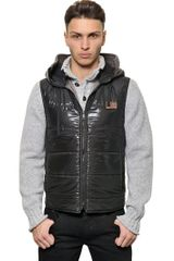 Dolce & Gabbana Hooded Down Vest - Lyst