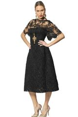 Dolce & Gabbana Lace Jacquard Dress - Lyst