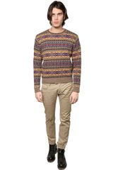 DSquared2 Wool Jacquard Knit Sweater - Lyst