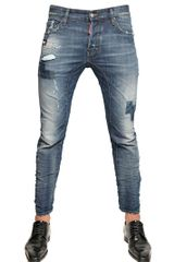 DSquared2 17cm Shadow Patch Tidy Biker Denim Jeans - Lyst