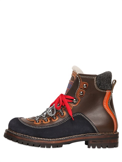 Dsquared2Leather hiking boots MT3naLHl1