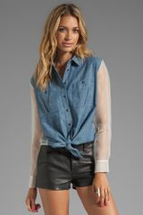 Elizabeth And James Tucker Shirt in Blue - Lyst