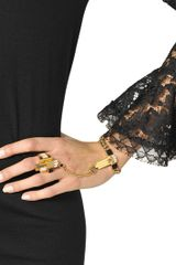 Emilio Pucci Plated Brass Bracelet with Ring - Lyst
