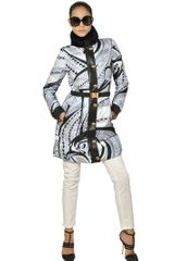 Emilio Pucci Beaver On Silk Satin Nappa Down Jacket - Lyst