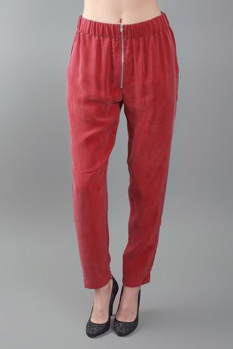 Enza Costa Zip Pant Red - Lyst