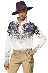 Etro Printed Cotton Poplin Shirt - Lyst