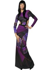 Etro Printed Viscose Cady Long Dress - Lyst